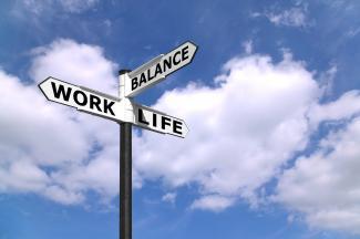 Work-life balance signpost